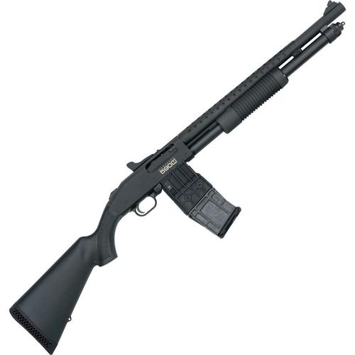 "Mossberg 590M Mag-Fed Pump Action Shotgun 12 Gauge 2-3/4"" Chamber 18.5"" Heavy Walled Barrel 10 Round DBM Heat Shield/Tri-Rail/Synthetic Stock Matte Black 50206?>"