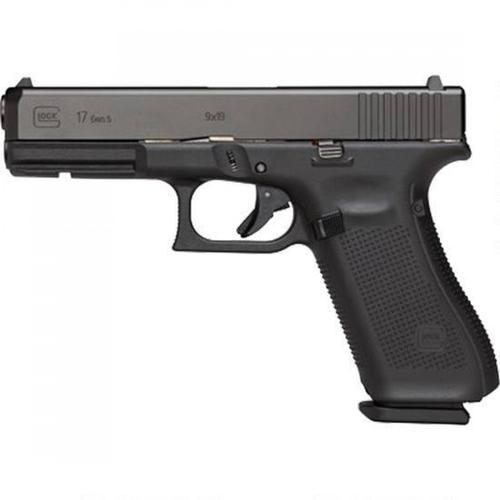 "Glock 17 Gen5 Semi-Auto Pistol, 9mm, 4.49"" Barrel, 10 Rounds, Fixed Sights UA1750201?>"