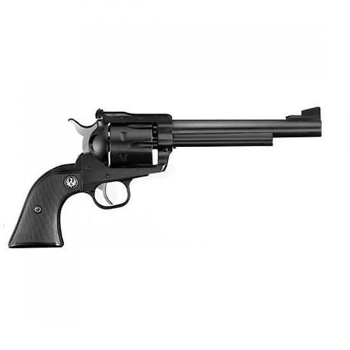 "Ruger New Model Blackhawk Single Action Revolver, .357 Magnum, 6.5"" Barrel, 6 Rounds, Adjustable Rear Sight, Checkered Hard Rubber Grips, Blued Black, 0316?>"