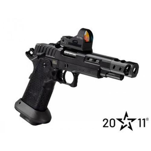 "PRE-ORDER: STI 2011 DVC-S (Blackout) Semi-Auto Pistol, 38 Super, 4.15"" TX1 Compensated Barrel?>"