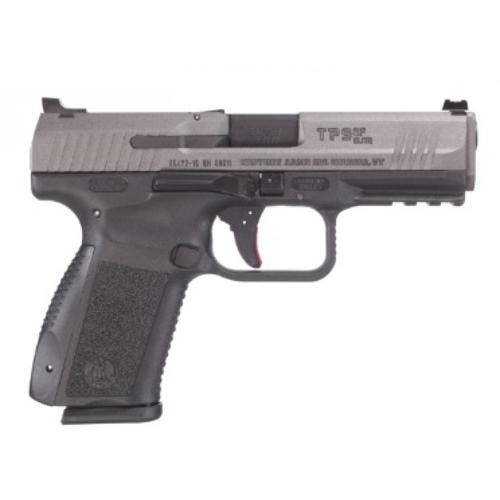 "Century Arms Canik TP9SF Elite Semi-Auto Pistol, 9mm, 4.19"" Barrel 10 Round Interchangeable Grips Black Polymer Frame Tungsten Slide Finish HG3898T-N?>"