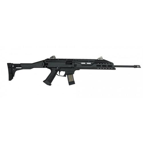 "CZ Scorpion EVO 3 S1 Carbine Semi-Auto Rifle, 9mm, 18.7"" Barrel, 5 Rounds, Black?>"
