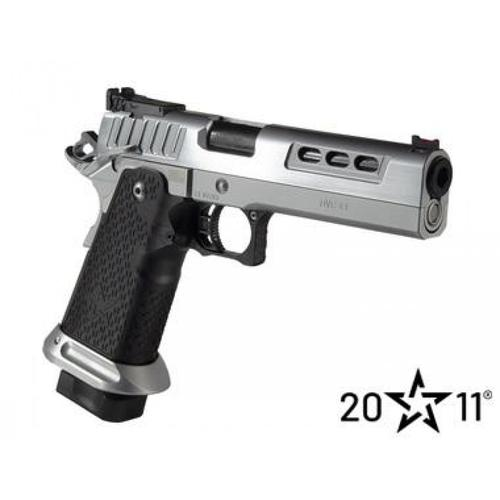 "PRE-ORDER: STI 2011 DVC-L (Chrome/Black) Semi-Auto Pistol, 40 S&W, 5"" Bull Profile Barrel?>"