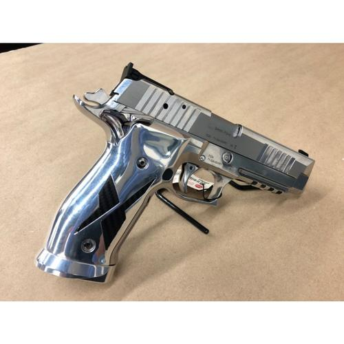 Sig Sauer P226 X-Five Chrome and Carbon Semi-Auto Pistol, 9mm, SAO, 10 Rounds, 70000707?>