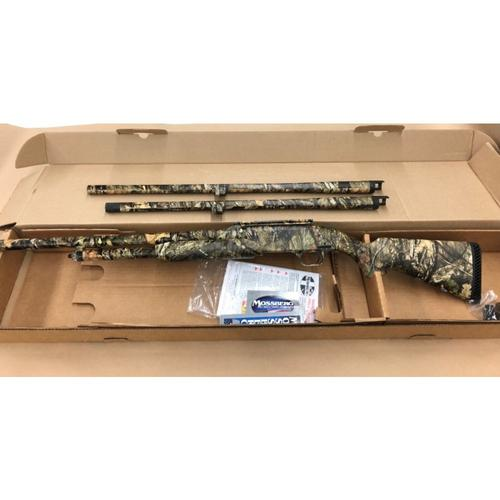"Mossberg 500 3-Barrel Combo, Mossy Oak Break-Up Country Camo, 12 Gauge Pump Action Shotgun, 3"" Chamber, 24"" Rifled, 24"" Ported, 28"" Ported Waterfowl Barrels, Model 53342?>"