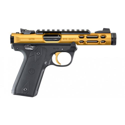 "Ruger IV 22/45 Lite Semi-Auto Pistol, 22LR, 4.4"" Threaded Barrel, Gold Anodized 43926?>"