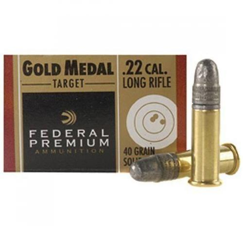 Federal .22LR Gold Medal Target Solid Lead Ammunition, 40 Grain, 1080fps, 711B - Box of 50?>