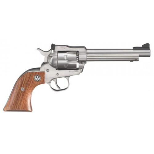 "Ruger Single-Six Convertible Single Action Revolver, 22LR / 22 Mag, 5.5"" Barrel, 6 Rounds, Rosewood Grip, Stainless Steel, 0625?>"