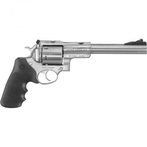 "Ruger Super Redhawk .454 Casull Double Action Revolver 7.5"" Barrel 6 Rounds Hogue Rubber Grips Satin Stainless 5505?>"