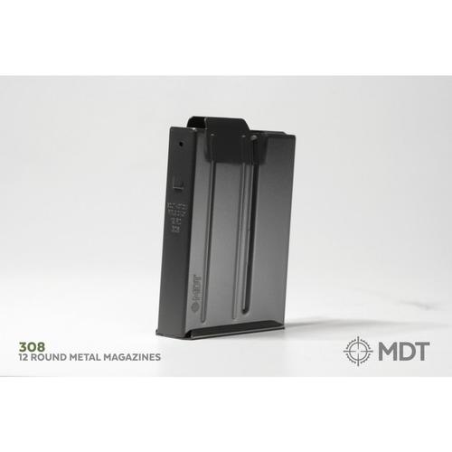 MDT Metal Magazine Short Action .308 / 6.5 Creedmoor Black 12 Rounds, with Binder Plate 102922-BLK?>