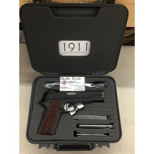 "Springfield 1911 Range Officer Semi-Auto Pistol 9mm 5"" Barrel 9 Rounds Wood Grips Parkerized PI9130L?>"