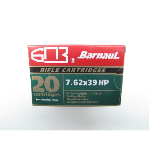 Barnaul Ammunition, 7.62x39 123gr HP - 1 Box, 20 rounds?>