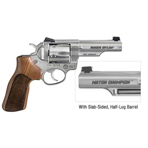 "Ruger 1754 Match Champion GP100 Double Action Revolver, .357 Mag, 4.2"" Barrel, Wood Grips, Stainless Finish, Fiber Optic Sight, 1754?>"