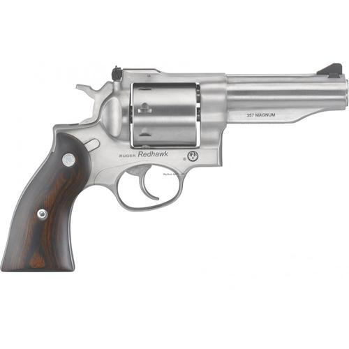 "Ruger Redhawk Revolver .357 Mag 4.2"" Barrel 8 Rounds Wood Grips Satin Stainless Steel Finish 5059?>"