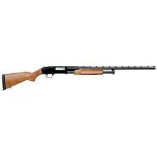 "Mossberg 500 Pump Action All Purpose Field Shotgun 12 Gauge 28"" Ported Barrel 6 Rounds Twin Bead Sights Wood Stock Blued Finish 50120?>"