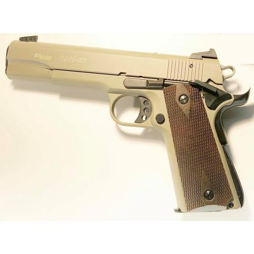 "Sig Sauer 1911-22 Semi-Auto Pistol, .22LR, 5"" Barrel, 10 Rounds, FDE Finish, Fixed Sights?>"