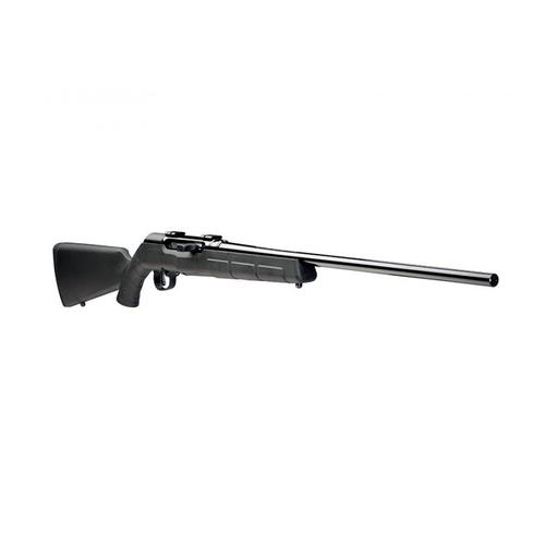 "Savage A17 Semi-Auto Rimfire Rifle, 17 Hornady Magnum Rimfire (HMR), Delayed-Blowback Action, 22"" Barrel, Black Synthetic Stock, Blued Finish, 10 Round, 47001?>"
