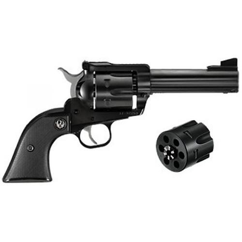 "Ruger Blackhawk Convertible Revolver, .357 / 9mm, 4.62"" Barrel, 6 Rounds, Black Grip, Blued Finish, 0308?>"
