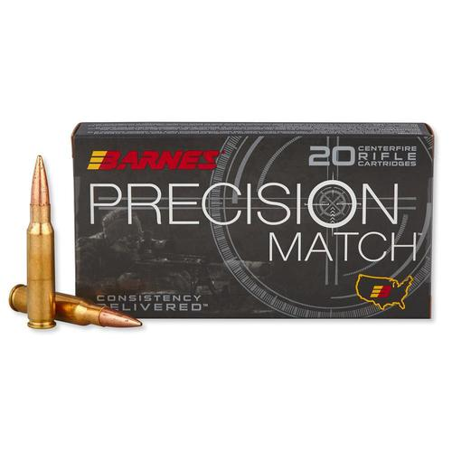 Barnes Precision Match Ammunition 308 Winchester 175 Grain Open Tip Match - Box of 20?>