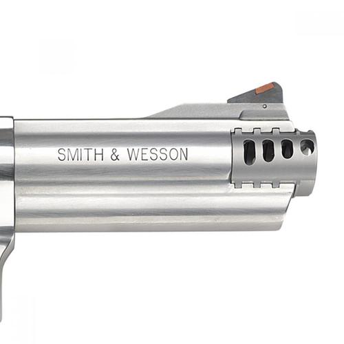 "Smith & Wesson 460V Revolver, .460 S&W Magnum, 5"" Barrel, 5 Round, Stainless, Black Rubber Grips, Adjustable Sights, 163465?>"