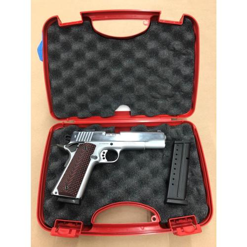 Tanfoglio Witness Custom 1911 Chrome Semi-Auto Pistol, 9mm, 10 Rounds?>