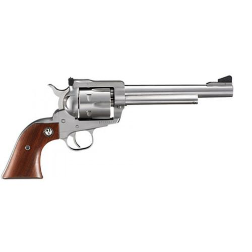 Ruger Blackhawk KBN36 Revolver, .357 Magnum, 6 1/2 in, Rosewood Grip, Satin Stainless Finish, 6 rd, 0319?>