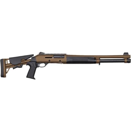"Canuck Operator Semi-Auto Shotgun, 12 Gauge, Tan, 18.6"" Barrel COPBR1219?>"