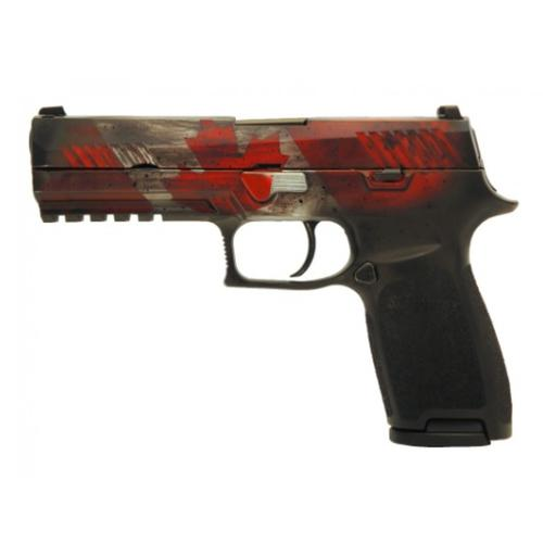 Sig Sauer P320 Semi-Auto Pistol, 9mm, Canadian Flag Finish with matching Explorer Hard Case 320-9-CDN?>