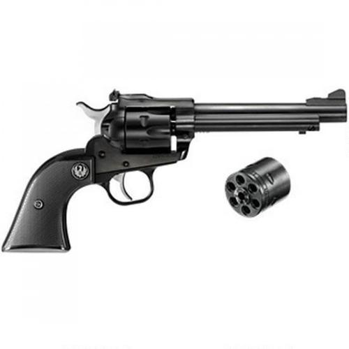 "Ruger New Model Single Six Convertible Single Action Revolver, .22 LR/.22 Mag, 5.5"" Barrel, 6 Rounds, Adjustable Rear Sight, Checkered, Hard Rubber Grips, Blued, 0621?>"
