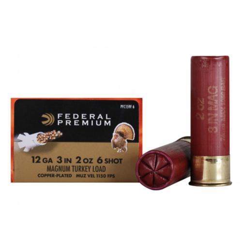 "Federal Premium Mag-Shok Turkey Ammunition, 12 Gauge, 3"", 2 oz, #6 Copper Plated Shot, High Velocity - 1 Box, 10 Shells?>"