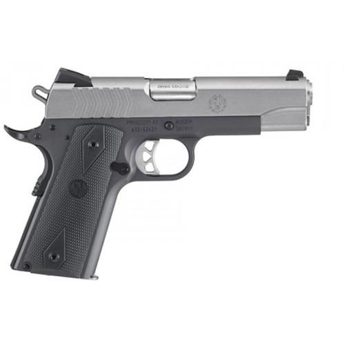 "Ruger SR1911 Semi-Auto Pistol 9mm 4.25"" Barrel 10 Rounds Black/Stainless 6722?>"
