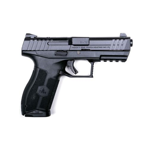 "IWI MASADA Semi-Auto Pistol, 9mm, 4.25"" Barrel, Black MASADA9?>"