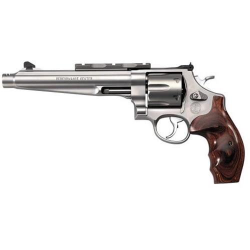 "Smith & Wesson 629 Revolver, 44 Mag / 44 Special, 7.5"" Barrel, Wood Grip, Matte Stainless Finish, 6 Round, w/Compensator, 170181?>"