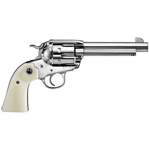 "Ruger Bisley Vaquero Single Action Revolver, .357 Magnum, 5.5"" Barrel, 6 Rounds, Simulated Ivory Grip, Stainless Steel, 5130?>"