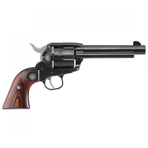 "Ruger New Vaquero Single Action Revolver .45 Long Colt 5.5"" Barrel 6 Rounds Hardwood Grips Fixed Sights Alloy Steel Blued Finish 5101?>"