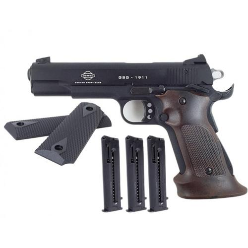 "GSG 1911 .22LR Pistol - Range Package - 5"" Barrel, Standard Black w/Black and Target Grips H14GSG911RNG?>"