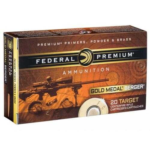 Federal Premium Gold Medal Berger Ammunition 308 Winchester 185 Grain Berger Juggernaut Open Tip Match - Box of 20?>