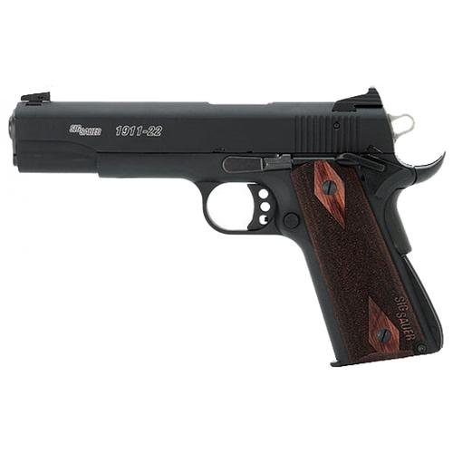 "Sig Sauer 1911-22 Semi-Auto Pistol, .22LR, 5"" Barrel, 10 Rounds, Black Finish, Fixed Sights?>"