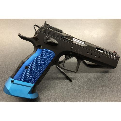 Tanfoglio Xtreme Limited Custom Pistol, 9mm, 2017 Spec, Black & Blue Appointments, Small Frame?>