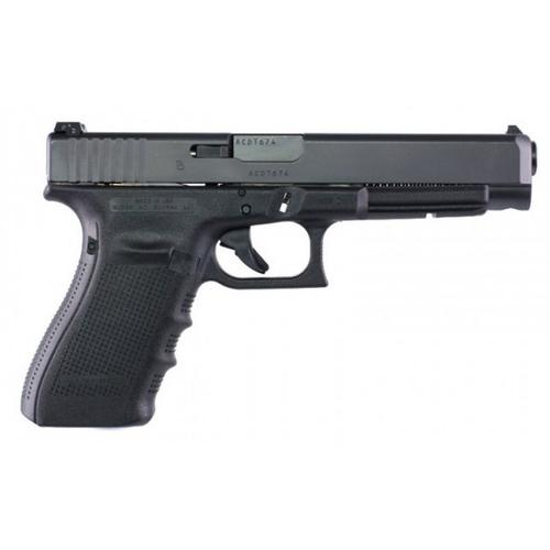 "Glock 41 Gen4 Semi-Auto Pistol, .45 ACP, 5.3"" Barrel, 10 Rounds, Black, Adjustable Sights, UG4130101?>"