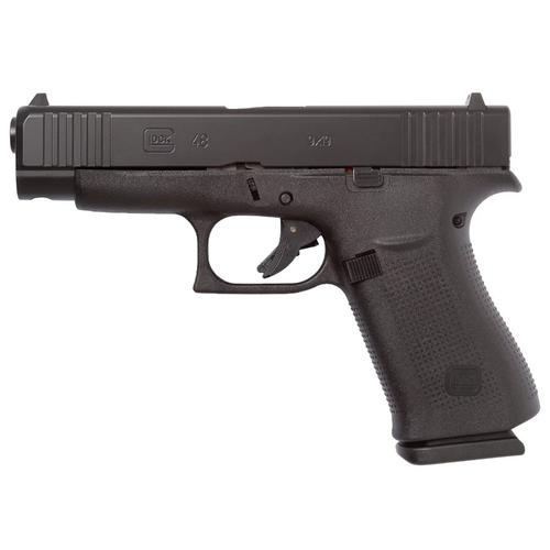 Glock 48 Semi-Auto Pistol, 9mm, Black, Ameriglo Bold Sights?>