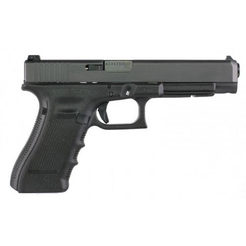 Glock 35 Gen4 Semi-Auto Pistol, .40 S&W, Black Finish, Adjustable Sights, 10 Round UG3530101?>