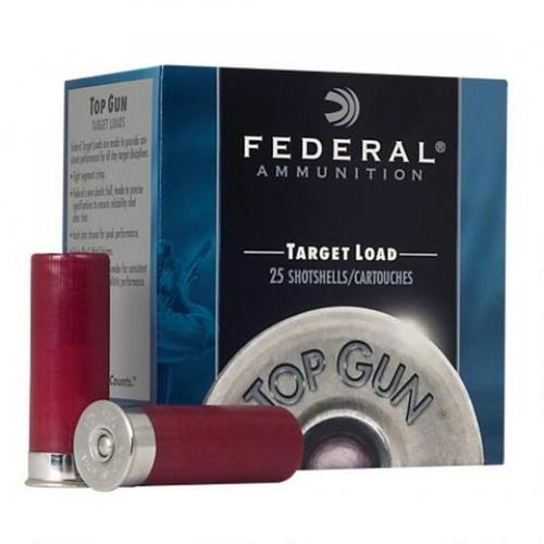 "Federal Top Gun Target Load Ammunition, 12 Gauge, 2.75"", 1-1/8oz, #9 TGL129 - Box of 25?>"