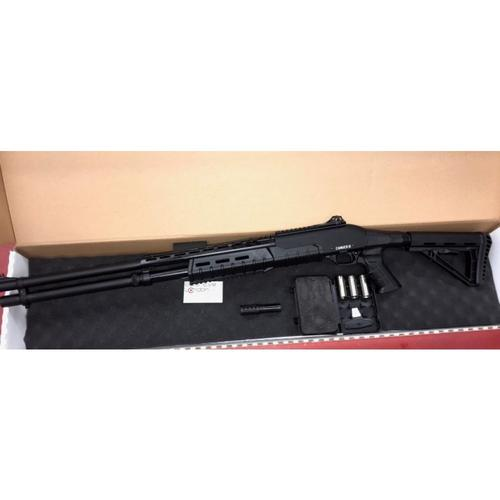 "Canuck Sentry Pump Action Shotgun, 12 Gauge, 3"" Chamber, 8 Rounds, 24"" Barrel, 3 Mobile Chokes, Fibre Optic Front Sight, Telescopic Stock, Black?>"