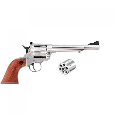 "Ruger Single Six Single Action Revolver, .22 LR/.22 WMR, 6.5"" Barrel, Rosewood Grips, Stainless Finish, 0626?>"