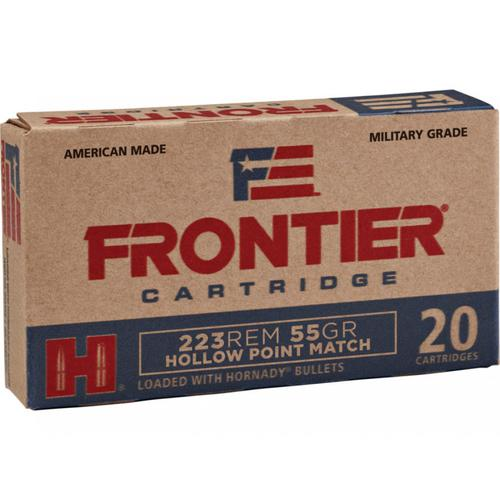 Frontier Cartridge Military Grade Ammunition 223 Remington 55 Grain Hornady Hollow Point Match FR140 - Box of 20?>