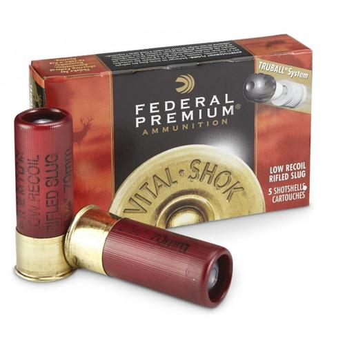 Federal Premium Vital-Shok Ammunition, 12 Gauge, Rifled Slug PB127LRS - Box of 5?>