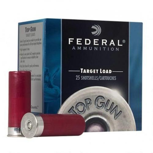 "Federal Top Gun Target Load Ammunition, 12 Gauge, 2.75"", 1 1/8oz, #7.5 TG1275 - Box of 25?>"