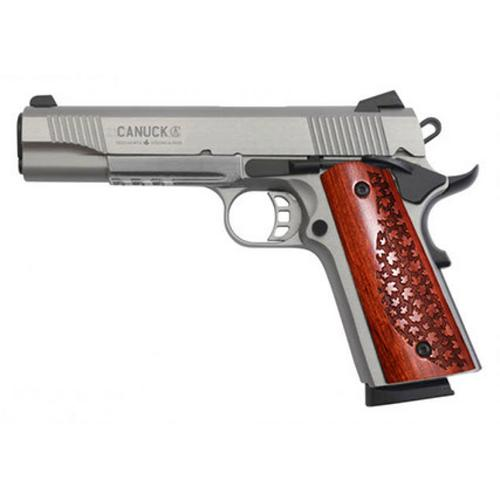 "Canuck 1911 Semi-Auto Pistol, .45 ACP, Stainless, 5"" Barrel, Single Action, 8 Rounds, CAN45S?>"