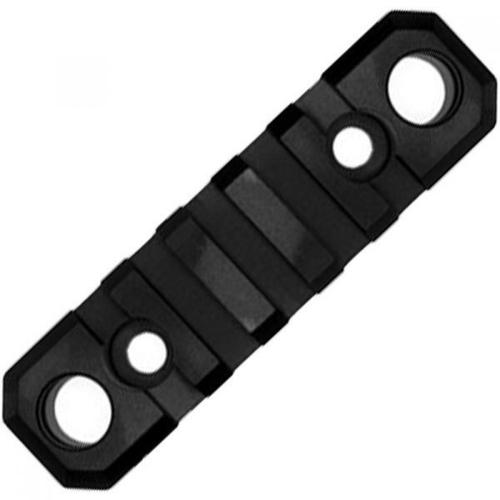 "GrovTec Key-Mod 5 Slot 3.1"" Rail Section with QD Push Button Base Key-Mod to Picatinny Solid Aluminum Type III Black Hard Anodized Finish GTSW231?>"